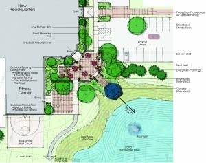 enlarged plan at plaza